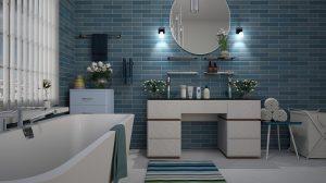 Malé koupelny s umyvadlem
